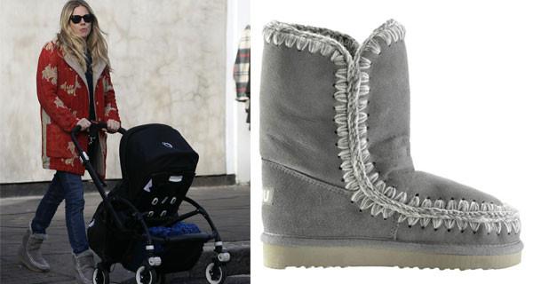 Sienna Miller, mamma e icona di stile, sceglie i Mou Boots per l'inverno