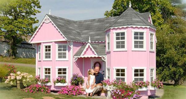 Ecco la casetta da giardino che farà sentire le bimbe delle vere principesse