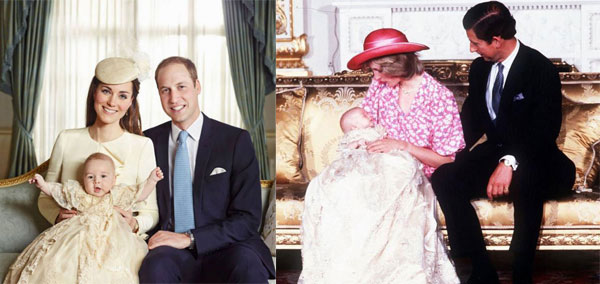 Prince George and Prince William Christening: which one do you prefer? [Photos]