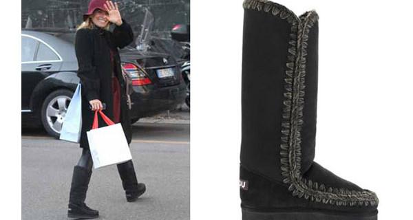 Federica Fontana mamma e amante della moda: eccola con i Mou Boots