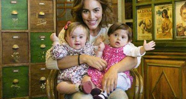 Megan Montaner, la Pepa de Il Segreto, insieme ai bambini Down per un calendario