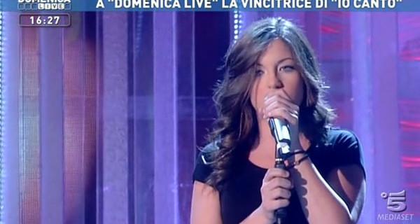 Io Canto 4: L'esibizione della vincitrice Miriam Di Pisa a Domenica Live. Foto e Video