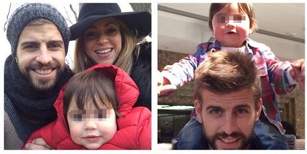 Shakira con il marito Gerard Piqué e loro figlio Milan a Londra [Foto]