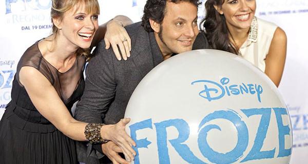 Premiere di Frozen a Roma: presenti Enrico Brignano, Serena Autieri e Serena Rossi