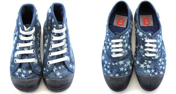 Bensimon presenta le sneakers per Natale: una cascata di stelle per mamme e bimbi