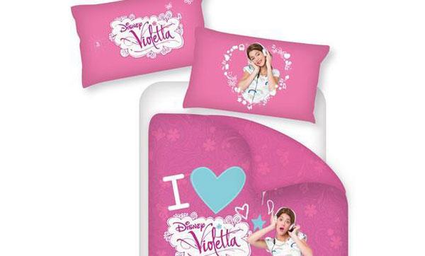 Camerette Disney Violetta : Disney violetta trapunta invernale letto singolo rosa fumetto