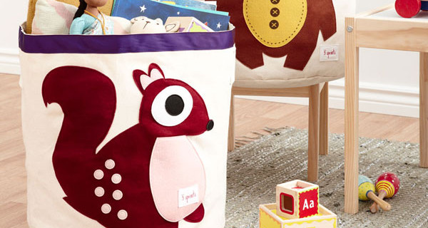 3 Sprouts presenta i contenitori in tela di cotone perfetti per la cameretta