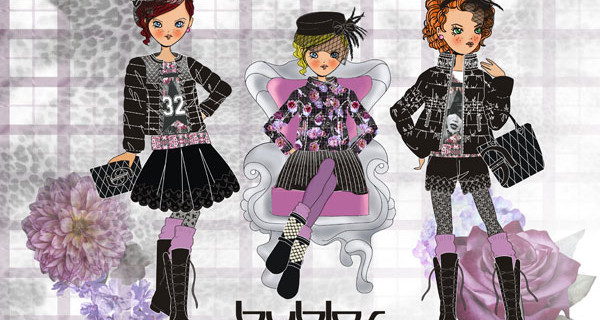 Byblos boys&girls collezione FW 2014: gli abiti da bambina sono un'esplosione di corolle