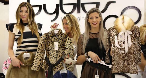 Guendalina Canessa, Margherita Zanatta e Giulia Calcaterra a Pitti Bimbo da Byblos boys&girls