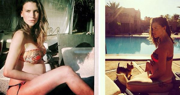 Claudia Galanti in bikini mostra il suo pancione di sette mesi. Come si chiamerà la sua bimba?