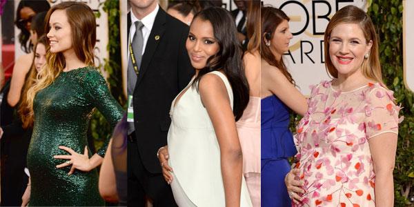 Parata di star in dolce attesa ai Golden Globes 2014: da Drew Barrymore a Olivia Wilde [Foto]
