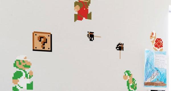 Super Mario Bros entra in cameretta grazie agli stickers da parete