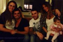 Anna Munafò ed Emanuele Trimarchi con Guendalina Tavassi e la piccola Chloe