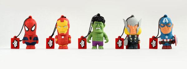 Tribe presenta le chiavette USB dei The Avengers e di Spiderman