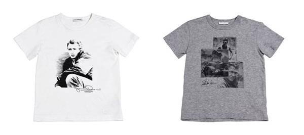 James Dean, Steve McQueen e Muhammad Ali sulle t-shirt di Dolce & Gabbana Kids