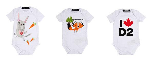 Dsquared2 il set di tre tutine per neonati: una bellissima idea regalo