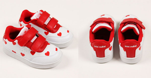 Love Sneakers, le scarpe per bebè di Mini Rodini dedicate all'amore