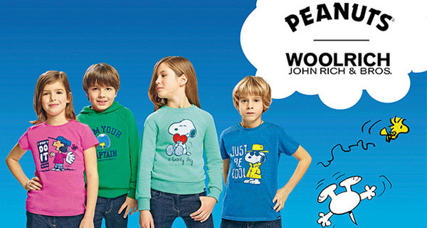 Peanuts per Woolrich Kids: la capsule collection che vede come protagonista Snoopy