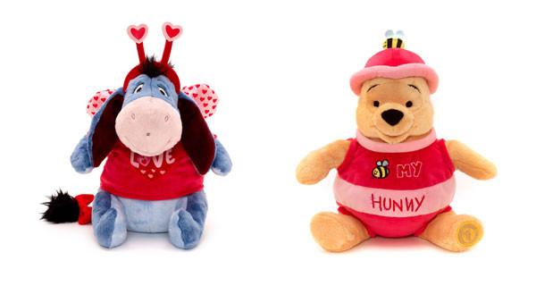 Peluche di Winnie The Pooh e Ih-Oh by Disney Store dedicati a San Valentino