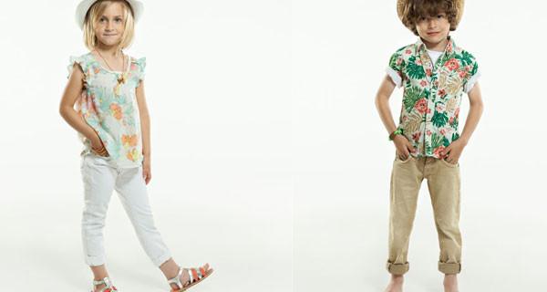 Pepe Jeans London, collezione kids Primavera Estate 2014: stampe floreali e colori vivaci