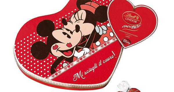 Regali di San Valentino per le mamme: cioccolatini Lindt e borse di Minnie, tutto firmato Disney
