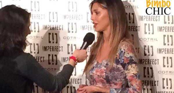 Belen Rodriguez, mamma e stilista, sfila per Imperfect. Foto esclusive del backstage