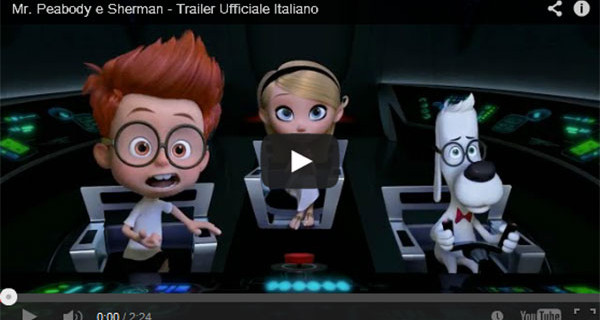 Film per bambini: da oggi al cinema Peabody & Sherman. Trailer.