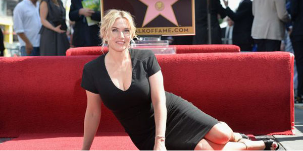 Kate Winslet entra nella Hollywood Walk of Fame. La sua prima uscita dopo il parto