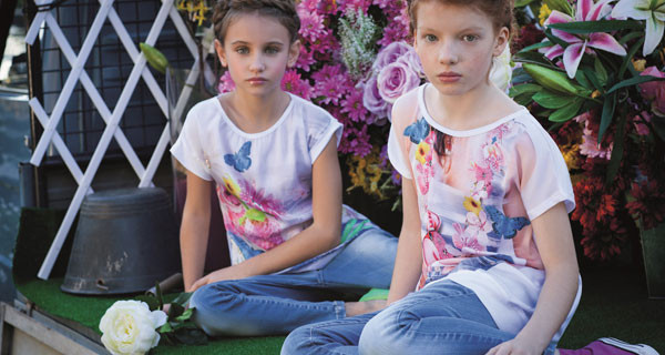 Byblos Boys & Girls: la collezione primavera estate 2014 per bambine romantiche