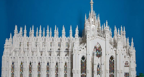 Il Duomo di Milano realizzato con i Lego verrà esposto da domani nella capitale lombarda