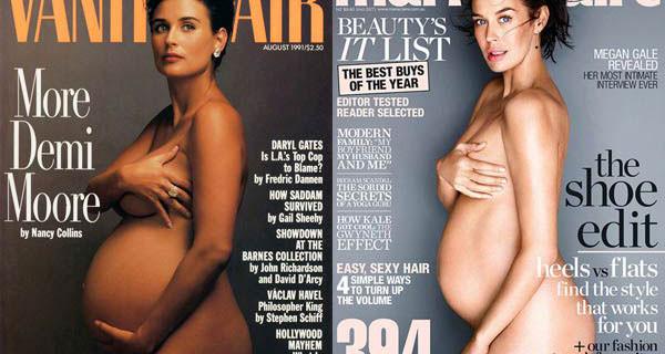 Megan Gale come Demi Moore e le altre: posa nuda con il pancione su Marie Claire