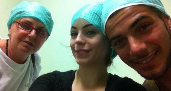Alessia Cammarota e Aldo Palmeri in ospedale: sono diventati zii