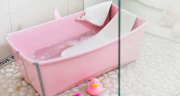 Stokke flexi bath si colora di rosa la vaschetta pieghevole arriva anche per bambine bimbochic - Vaschetta bagno bimbo ...