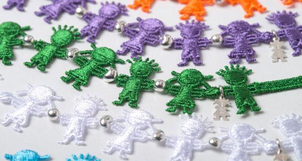 ibamboli colors: pizzo macramè e argento per i braccialetti dell'estate 2014