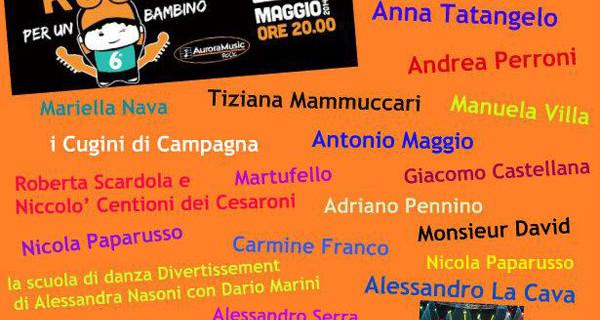 Rock per un Bambino a Genzano di Roma: tutto è pronto per il grande evento