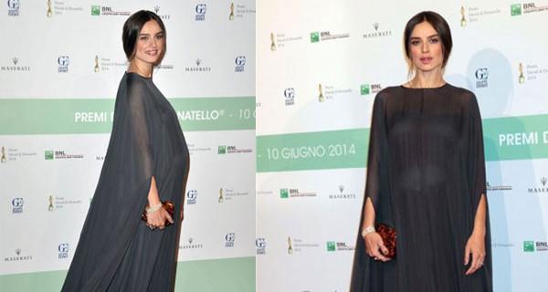 Kasia Smutniak incinta ai David di Donatello: il suo abito Premaman di Valentino