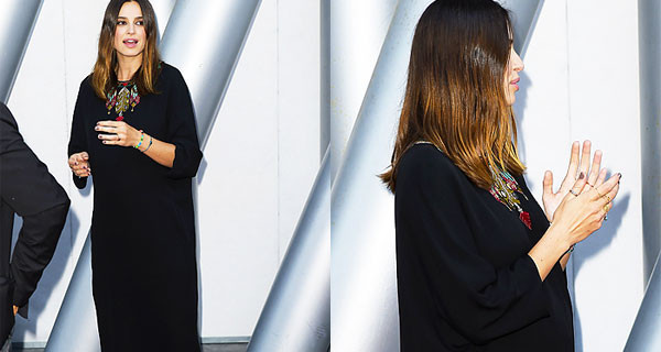 Kasia Smutniak incinta al Maxxi di Roma mostra il suo pancione di 6 mesi