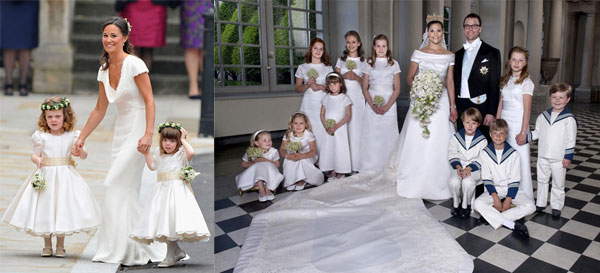 BAMBINI E CERIMONIE. Matrimoni Reali: copia il look delle damigelle
