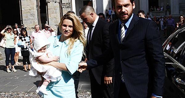 Il battesimo di Sole, la figlia di Michelle Hunziker e Tomaso Trussardi [FOTO]