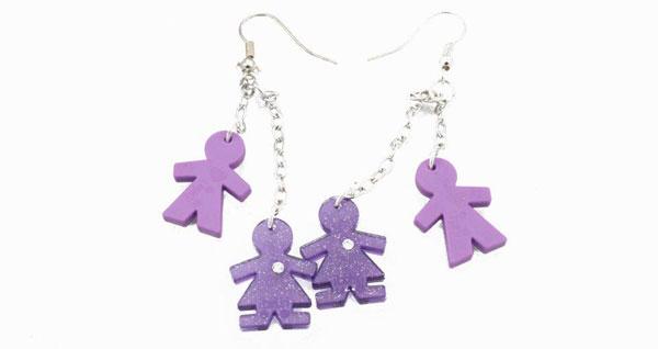 Orecchini I Birikini, gli accessori colorati per l'estate delle bambine