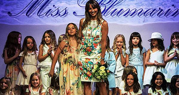 Eleonora Caressa, la figlia di Benedetta Parodi, sfila a Pitti Bimbo per Miss Blumarine