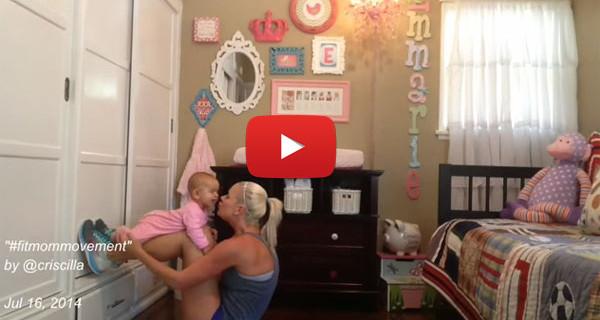Criscilla Anderson, la mamma che fa ginnastica con la sua bimba di pochi mesi [VIDEO]