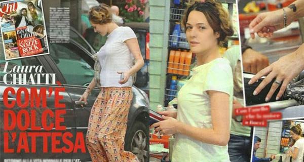 Laura Chiatti e Marco Bocci presto genitori: l'attrice incinta mostra il pancino [FOTO]