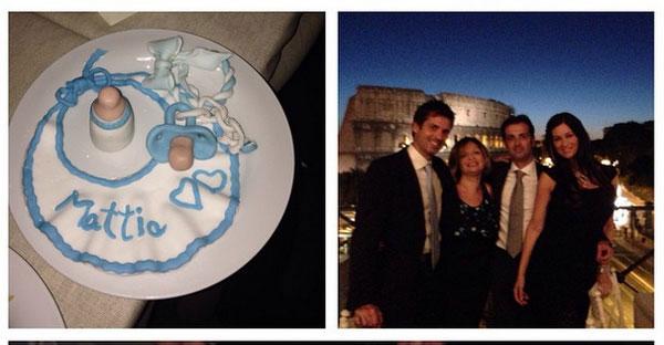 Manuela Arcuri e il battesimo di suo figlio Mattia: tutte le foto e i dettagli