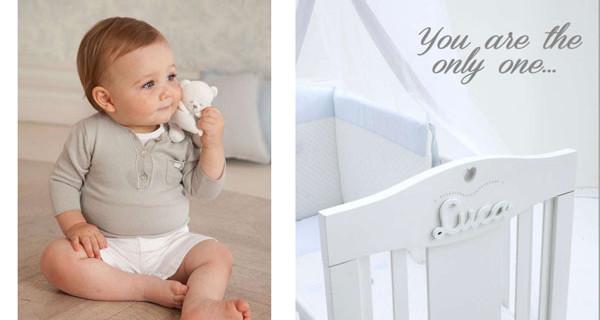 Camerette personalizzabili con Nanàn: arredi con il nome del bebè