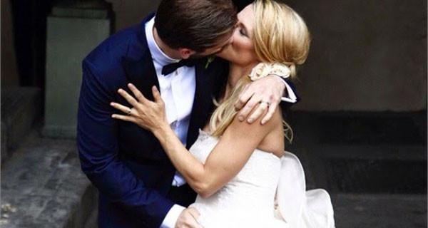 Michelle Hunziker e Tomaso Trussardi neo sposi e presto genitori di un'altra bimba