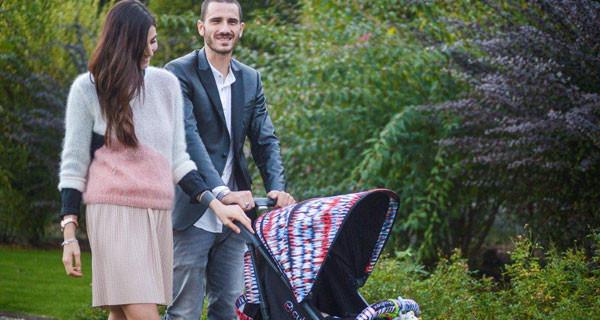 Leonardo Bonucci neo papà: per il piccolo Matteo ha scelto il passeggino dei vip