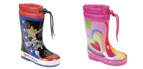 Stivali da pioggia per bambini: i modelli firmati Agatha Ruiz de la Prada e Garvalin