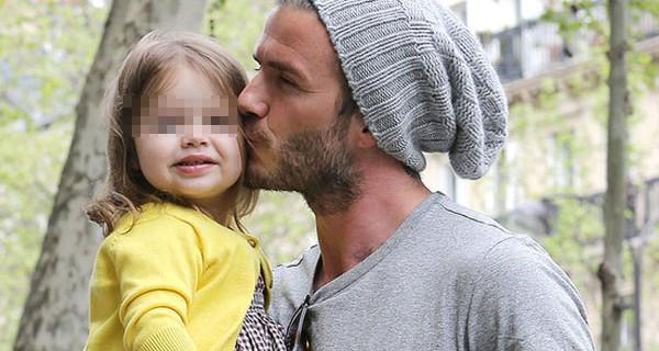 """David Beckham, le parole di sua figlia Harper: """"Papà, non mi piaci. Sei cicciotto!"""""""