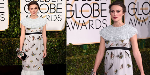 Keira Knightley incinta ai Golden Globe Awards 2015: il suo abito firmato Chanel